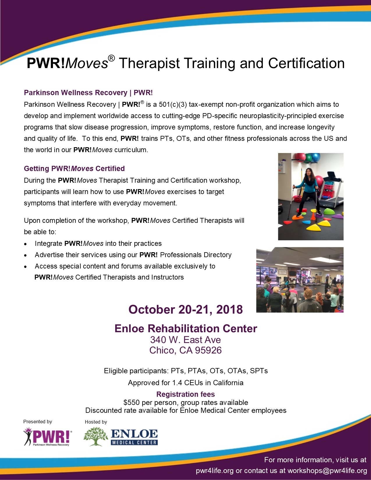 Upcoming Pwr Therapist Workshops Parkinson Wellness Recovery Pwr