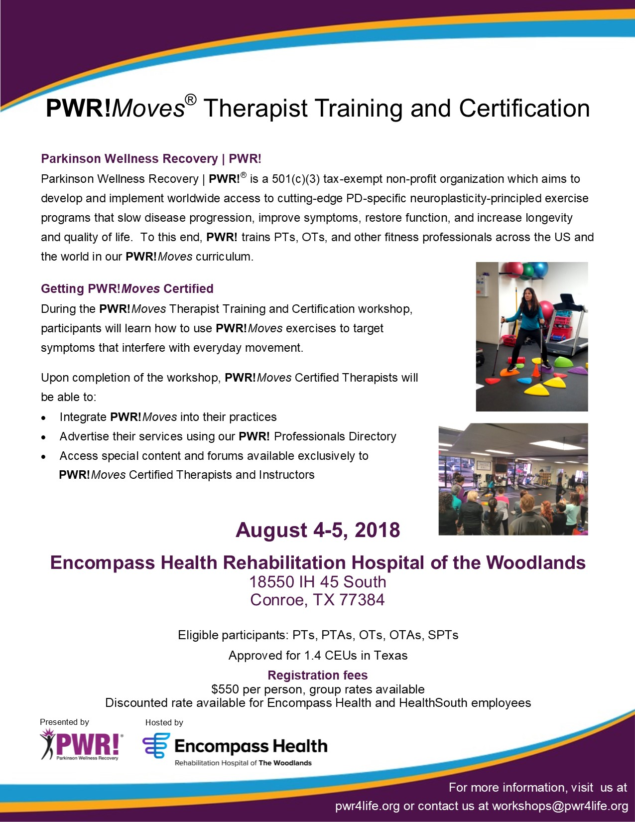 Workshop 95 Addressing Students >> Upcoming Pwr Therapist Workshops Parkinson Wellness Recovery Pwr